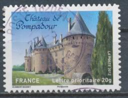 France - Châteaux Et Demeures (Pompadour) YT A719 Obl. Cachet Rond Manuel - Francia