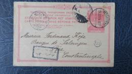 Grece Entier Postal Pour Péra  Constantinople Cachet De Galata  1915 Voir Scans - Grecia