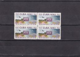 Cuba Nº A216 En Bloque De Cuatro - Aéreo