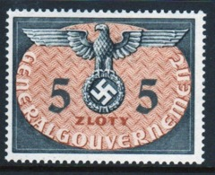 Poland German Occupation 1940 Single 5z Official Stamp. - General Government
