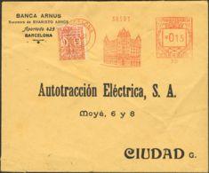 España. Ayuntamiento De Barcelona. Ayuntamiento De Barcelona. Franqueado Con RODILLO. RARA. - Barcelona