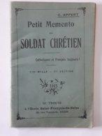 Militaria - Dijon - Petit Memento Du Soldat Chrétien - Complet 64 Pages - Très Bon état .... Lot40 . - Libri, Riviste & Cataloghi