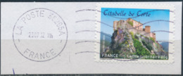 France - Châteaux Et Demeures (Corte) YT A720 Obl. Ondulations Et Dateur Rond Sur Fragment - Francia