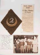 """España. Guerra Civil. Brigada Internacional. Sobre . 1939. """"Parche De Hombro"""" Romboidal Con Bordado De Media Luna Y """"2"""" - 1931-Aujourd'hui: II. République - ....Juan Carlos I"""