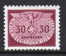 Poland German Occupation 1940 Single 30g Official Stamp. - General Government