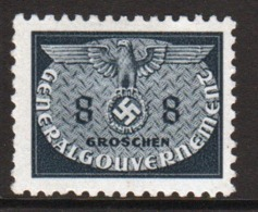 Poland German Occupation 1940 Single 8g Official Stamp. - General Government