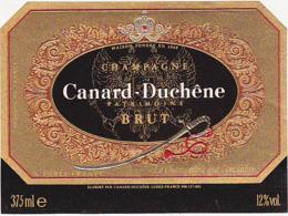 Etiquette Champagne Patrimoine BRUT Canard-Duchêne à Ludes (51) / 375 Ml - Champagne