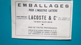 Isigny Sur Mer,emballages Pour L'industrie Laitière Lacoste & Cie - Publicités