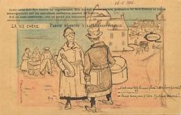Themes Div-ref BB700- Illustrateurs -illustrateur - La Vie Chere -carte En Franchise Militaire -guerre 1914-18- - Marcophilie (Lettres)
