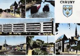 CHAUNY (Aisne)  Multivues  Carte Photo - Chauny