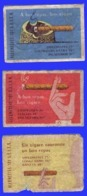 3 ÉTIQUETTES DE BOITES D'ALLUMETTES - PUBLICITÉ POUR LES CIGARES DE LA SEITA - Zündholzschachteletiketten