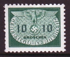 Poland German Occupation 1940 Single 10g Official Stamp. - General Government
