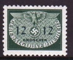 Poland German Occupation 1940 Single 12g Official Stamp. - General Government