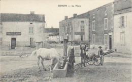 """1906  Senon   """" La Place Et La Fontaine """"  Epicerie Gambette / Médard - Spincourt"""