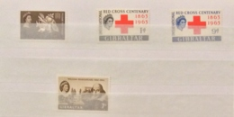 Gibraltar 1963 FFH , Red Cross, And Shakespeare  Sets MNH - Gibilterra