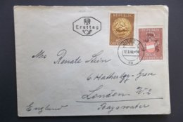 Osterreich: 1949 FDC To London, England (#DV4) - 1945-.... 2nd Republic