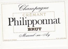 Etiquette Champagne CREMANT BRUT Philipponnat à Mareuil Sur Ay (51) - Champagne