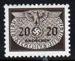 Poland German Occupation 1940 Single 20g Official Stamp. - General Government