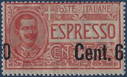 Italie Poste Express N°8** 60c Sur 50c Rouge Variété Surcharge Completement à Cheval RR Signé Calves - 1900-44 Victor Emmanuel III.