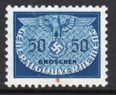Poland German Occupation 1940 Single 50g Official Stamp. - General Government