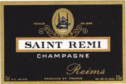 Etiquette Champagne SAINT-REMI à Reims (51) / 75 Cl - Champagne
