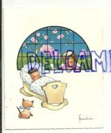 Mignonnette Double. Bébé, Petit Ange, Chaton. Luc Tromme  Dupagne Saint Baptême. 1963 Jupille. Signée Frankie - Nascite