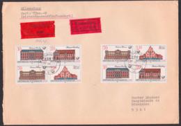 Postämter Der DDR Wert-Eil-Brief Mit Zusammendrucke  Aus 3067/70, Waldkirchen, Dabei 3069I, Porto Müsste Stimmen! - [6] República Democrática