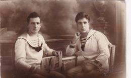 TRES JOLIE CARTE PHOTO MATELOTS / 1921 / PHOTO PARIS SUCCES TOULON - Toulon
