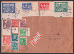 Germany SBZ Zehnfachfrankatur Brief R-Brief DRESDEN 16, Mit Messe Leipzig Hannovermesse 2, 3 Mk Taube 9.7.48 - Zone Soviétique