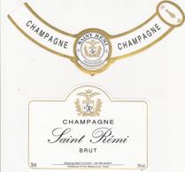 Etiquette Champagne BRUT SAINT-REMI à Reims (51) / 75 Cl (2 Pièces) - Champagne