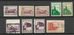 Mittellitauen Central Lithuania 1921 Portomarken Postage Due Lot, Mint & Used, Incl. Paper Types NB! - Lituanie