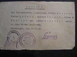 AUSWEISS - 30.11.1918 - Tampon : SOLDATENRAT SENNELAGER - KOMMANDANTUR DES KRIEGSGEFANGENENLAGERS - Historical Documents