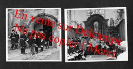 Eglise De Dampleux Chasse à Courre Vènerie / Près De Villers-Cotterêts Soissons Aisne / 2 Photos 11X11cm Env (No CP) - Villers Cotterets