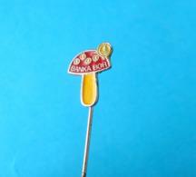 MUSHROOMS - Serbian Old Pin Badge Champignon Champiñón Hongo Pilz Fungo Mushroom Champignons Hongos Pilze Funghi - Pins