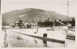 España. Guerra Civil. Postal Nacional. (*). 1937. Tarjeta Postal Con Imagen Del Submarino General Mola (antes Archimede - 1931-Aujourd'hui: II. République - ....Juan Carlos I