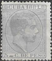 PUERTO RICO 1881 Alfonso XIII - 5c - Lilac MH - Puerto Rico