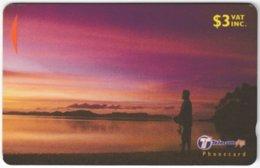 FIJI A-145 Magnetic Telecom - Landscape, Coast, Sunset - 30FIB - Used - Figi