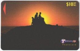 FIJI A-149 Magnetic Telecom - Landscape, Coast, Sunset - 32FJD - Used - Figi