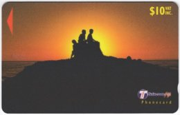 FIJI A-150 Magnetic Telecom - Landscape, Coast, Sunset - 33FJD - Used - Figi
