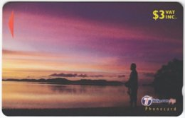 FIJI A-151 Magnetic Telecom - Landscape, Coast, Sunset - 33FIB - Used - Figi