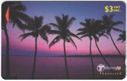 FIJI A-153 Magnetic Telecom - Landscape, Coast, Sunset - 33FJB - Used - Figi