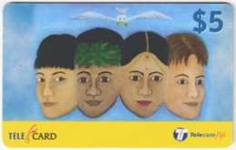 FIJI A-157 Prepaid Telecom - Painting, People, Children - Used - Figi