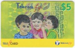 FIJI A-162 Prepaid Telecom - Painting, People, Children - Used - Figi