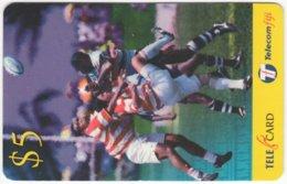 FIJI A-164 Prepaid Telecom - Sport, Rugby - Used - Figi