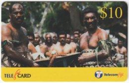 FIJI A-169 Prepaid Telecom - People, Traditonal Life - Used - Figi