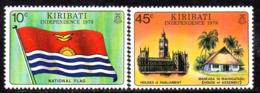 Kiribati 1979 Independence Set Of 2, MNH, SG 84/5 (BP2) - Kiribati (1979-...)