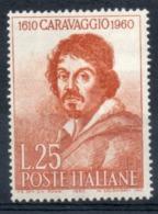 ITALIA 1960 - Michelangelo Merisi - Caravaggio MNH ** - 1946-60: Neufs
