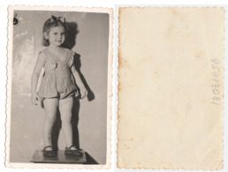 1950s Original 12x7cm Photo Vintage Children Pants Child Girl Pants Pin Up Dress Bow USSR Russia (2202 - Pin-ups