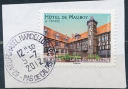 France - Châteaux Et Demeures (Troyes) YT A723 Obl. Cachet Rond Manuel Sur Fragment - Francia