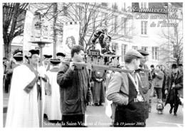 AUXERRE 25è BOURSE DE CARTES POSTALES ,SCENE DE SAINT VINCENT JANVIER 2003 ,VIGNERONS IRANCY REF 61592 - Borse E Saloni Del Collezionismo